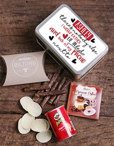 gifts: Personalised Modern Love Snack Tin!