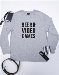 gifts: Personalised Beer and Video Games T Shirt!