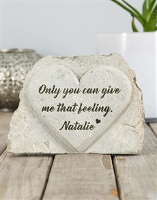 gifts: Personalised That Feeling Stone Heart!
