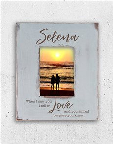 gifts: Personalised I Fell In Love Photo Frame!