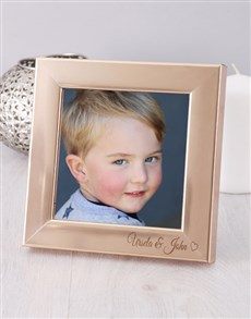 gifts: Personalised Gold Heart Photo Frame!
