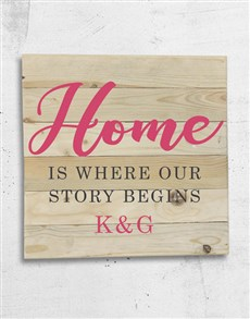 gifts: Personalised Story Begins Wall Art!
