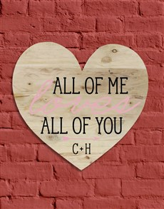 gifts: Personalised All Of Me Wall Art!