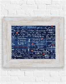 gifts: Personalised Love Formula Wall Frame!