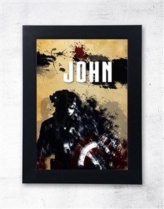 gifts: Personalised Captain America Frame!