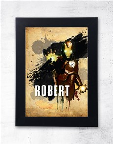 gifts: Personalised Iron Man Frame!