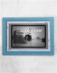 gifts: Personalised Vintage Camera Frame!