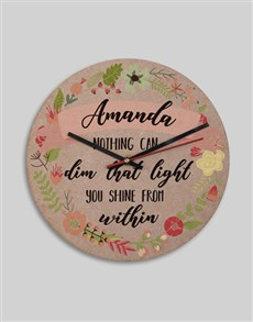 gifts: Personalised Shine From Within Clock!