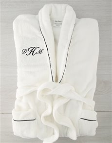 gifts: Personalised Cursive Monogram Fleece Gown!