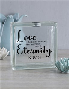 gifts: Personalised Love Lasts Glass Brick!