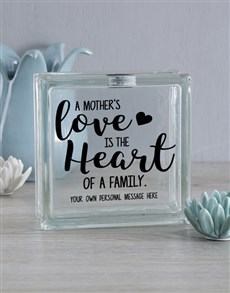 gifts: Personalised A Mothers Love Glass Brick!