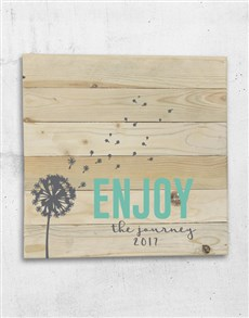 gifts: Personalised Enjoy The Journey Wall Art!
