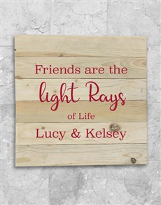 gifts: Personalised Friends Are Lightrays Wall Art!
