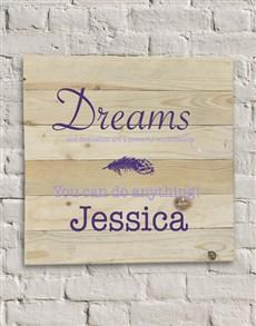 gifts: Personalised Dreams and Dedication Wall Art!