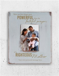 gifts: Personalised Righteous Mother Photo Frame!