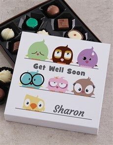 gifts: Personalised Get Well Chocolate Tray!