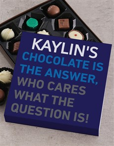 gifts: Personalised Chocolate Answer Tray!
