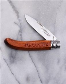 gifts: Personalised Alpage Bubinga Pocket Knife!