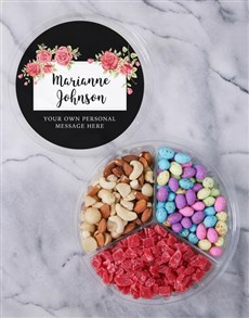 gifts: Personalised Blossom Fruit And Nut Tub!