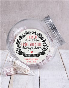 gifts: Personalised Always Will Candy Jar!