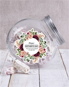 gifts: Personalised Floral Mothers Day Candy Jar!