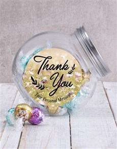 gifts: Personalised Thank You Floral Candy Jar!