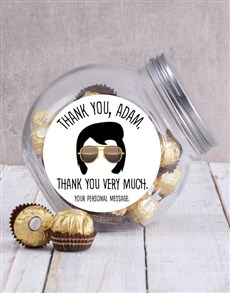 gifts: Personalised Elvis Thank You Candy Jar!
