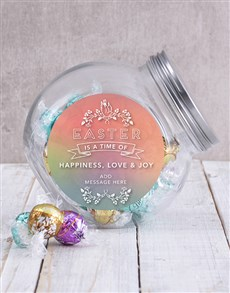 Order easter gifts online personalise your gift gifts personalised happy easter candy jar negle Images