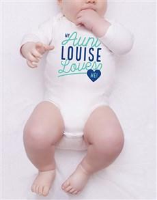 gifts: Personalised Aunt Loves Me Onesie!