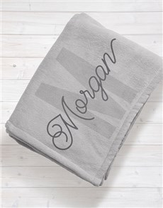 gifts: Personalised Initial Baby Fleece Blanket!