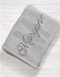 gifts: Personalised Initial Baby Fleece Blanket!
