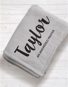 gifts: Personalised Name and Message Baby Fleece Blanket!