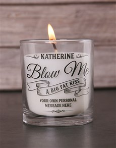 gifts: Personalised Blow Me a Kiss Candle!