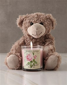 gifts: Personalised Vintage Rose Candle!