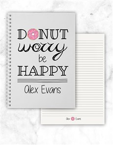 gifts: Personalised Donut Worry Notebook!