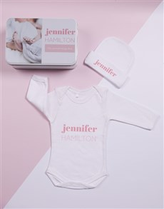 gifts: Personalised Keepsake Photo Girl Tin Gift Set!