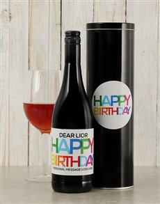 gifts: Personalised Birthday Brights Wine Tin!