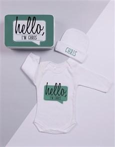 gifts: Personalised Keepsake Hello Tin Gift Set!