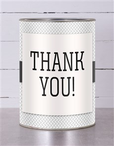 gifts: Personalised Bold Thank You Tin!