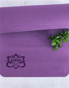 gifts: Personalised Lotus Flower Yoga Mat!