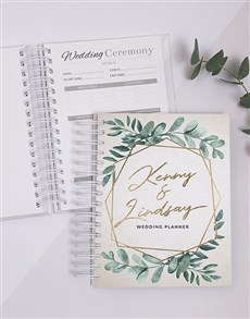 gifts: Personalised Wreath Wedding Journal!
