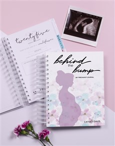 gifts: Personalised Watercolour Pregnancy Journal!