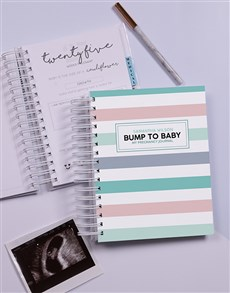 gifts: Personalised Bump to Baby Pregnancy Journal!