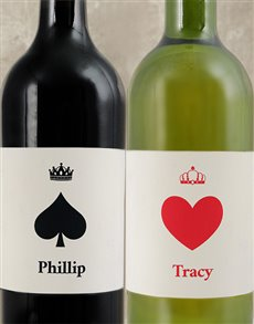 gifts: Personalised Card Deck Wine Duo!