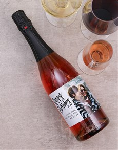 gifts: Blush Birthday Personalised Photo Wine!