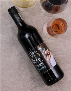 gifts: Moon and Back Personalised Photo Wine!