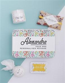 gifts: Personalised Spring Bath Keepsake Box!