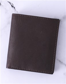 gifts: Personalised Brown Busby Gents Wallet!