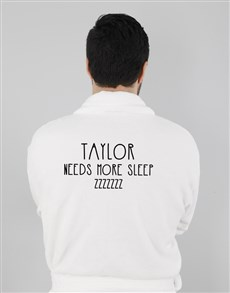 gifts: Personalised Need More Sleep Gown!