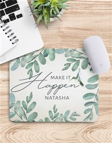 gifts: Personalised Make It Happen Mouse Pad!